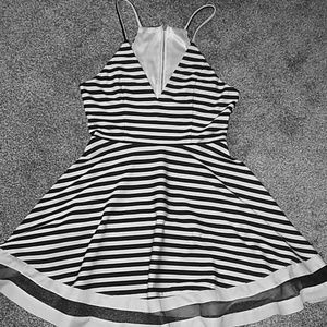 B&W Mini Dress